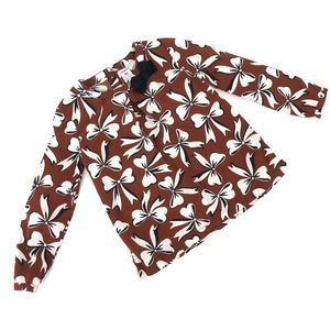 Carters bow print long sleeved top 4T